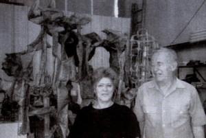 Lois DiCosla with Ibram Lassaw