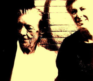 Lois DiCosola with Louise Bourgeois