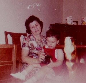 Me and my grandmother, Rose Filangeri, circa 1966